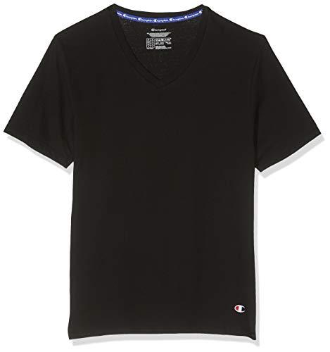Champion Herren Sport Top Champion T-Shirt V-Neck X2 (2er Pack), Schwarz (Noir 3Am), Small