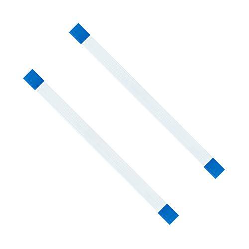 Mcbazel 2-Pack botón de encendido de 12 pines Flex Ribbon Cable de carga placa flexible cable de reemplazo para PS4 Controlador