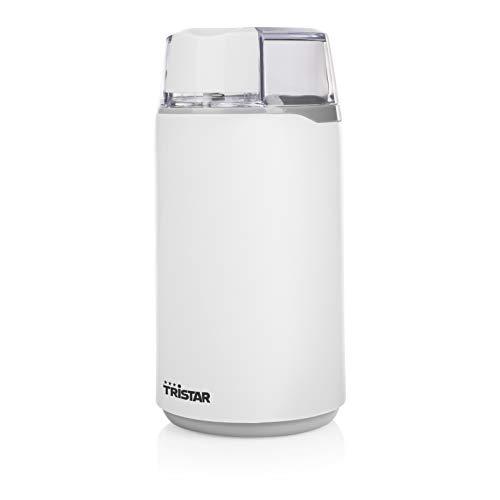 Tristar elektrische Kaffeemühle für 45g Kaffeebohnen 200 Watt, KM-2271, Plastic, Weiß