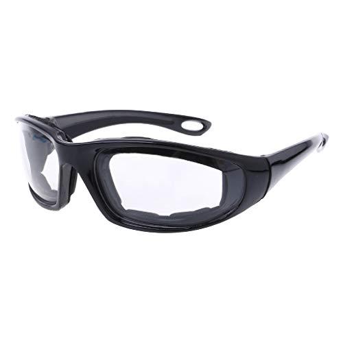 KOFUN, Occhiali di Sicurezza per cipolle, Occhiali protettivi con Taglio a cipolle, pratici da Cucina, Anti Strappo Nero