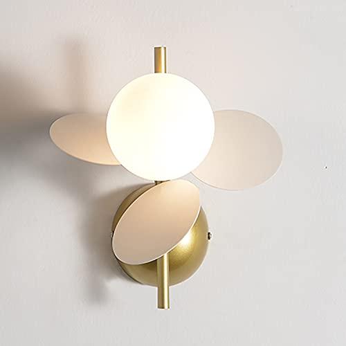 Lámpara pared LANTING, regulable, moderna, simple, tipo flor, aplique LED, lámpara pared, sala estar, dormitorio, estudio, L23.5xH25cm G9x1Flammig (con bombilla) 5W 350lm metal + vidrio,Blanco
