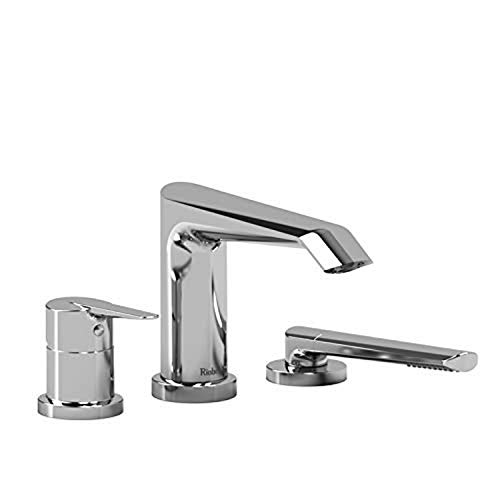Read About Riobel VY10C-EX 3-piece deck-mount tub filler with hand shower EXPANSION PEX, Chrome