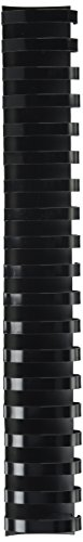 Fellowes Plastic Comb Binding Spines, 1 1/2 Inch Diameter, Black, 340 Sheets, 50 Pack (52368)