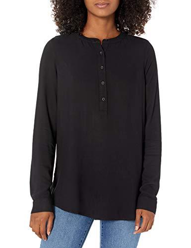 Amazon Essentials Blusa Tejida de Manga Larga Dress-Shirts, Negro, US M (EU M - L)