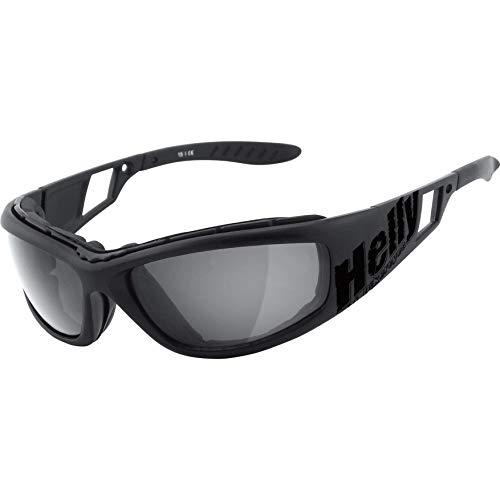HELLY® - No.1 Bikereyes® | Bikerbrille, Motorradbrille, Motorrad Sonnenbrille | winddicht, gepolstert, beschlagfrei, bruchsicher | TOP Tragegefühl bei langen Ausfahrten | Brille: vision 3