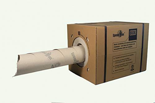 1 SpeedMan Box mit 450m Packpapier   Grammatur 70 gr/m²   Schrenzpapier Spender   in verschiedenen Mengen wählbar