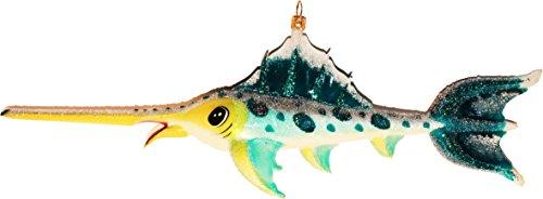 Christbaumschmuck Fisch XL Marlin Weihnachtsbaumschmuck Glas mundgeblasen & handbemalt