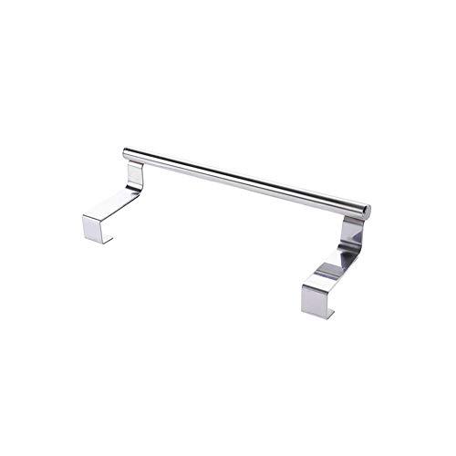 litty089 RVS Punch Gratis Keuken, Badkamer Over Deur Handdoek Bar Stand Rack Kast Hangende Plank - L