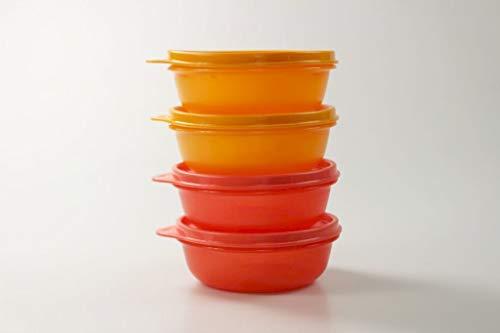 Tupperware Astral 300 ml Rojo (2) + Naranja (2) 36773