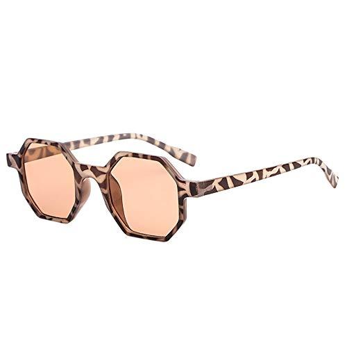 Gafas Sol Hexagonales Hombre Mujer Polarizadas, 2019 Chic Gafas con Espejo Plateado Lente, Protección UV400 URIBAKY …