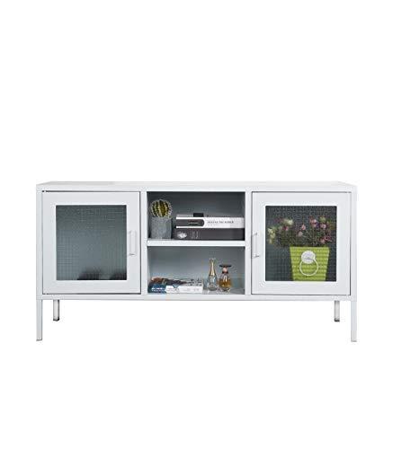 CaliCosy dressoir van metaal met 2 glazen deuren Wit.