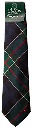 I Luv LTD Colquhoun Clan 100% Wool Scottish Tartan Tie
