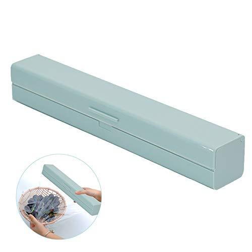 Dispensador de Film Transparente Acero Inoxidable Dispensador de Papel de Aluminio Simple Dispensador de Papel de Aluminio Azul Dispensador de Film Transparente para Hotel Familiar Restaurantes
