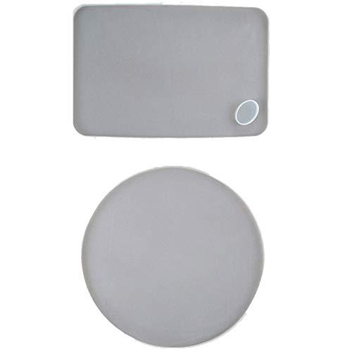 Nirmon 2 Arten Runde Tablett Form für Harz Groo Formatige Untersetzer Silikon Formen DIY Formen Handarbeits Werkzeuge