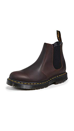 Dr. Martens Men Snowplow WP Cocoa 2976 Chelsea Boots Leather Brown 24042247, Numero di Scarpe:EUR 45