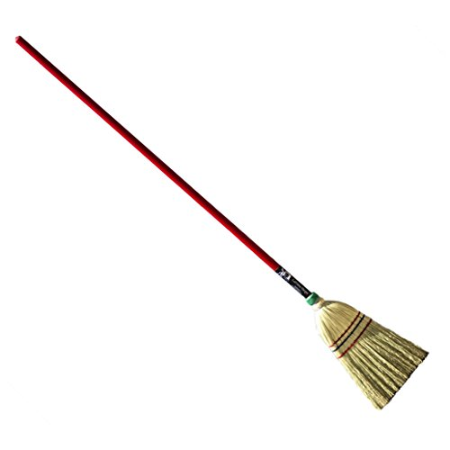 Authentic Hand Made All Broomcorn Broom, Long Handle Small Broom Head (48-Inch/Parlor)