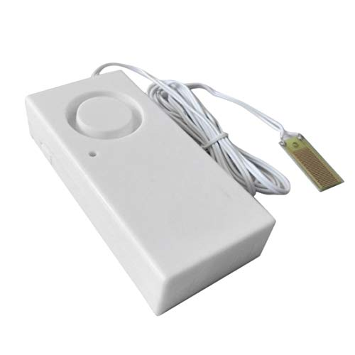 Detector de Sensor de Alarma de Fuga de desbordamiento de Agua 120dB Alarma de Nivel de Agua Sistema de Alarma de Seguridad para el hogar Trabajo Solo Kaemma(Color:White)