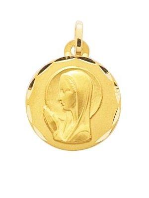 Virgen-Medalla religiosa Or-K, 9 mm, altura: 15-perles.com www.diamants