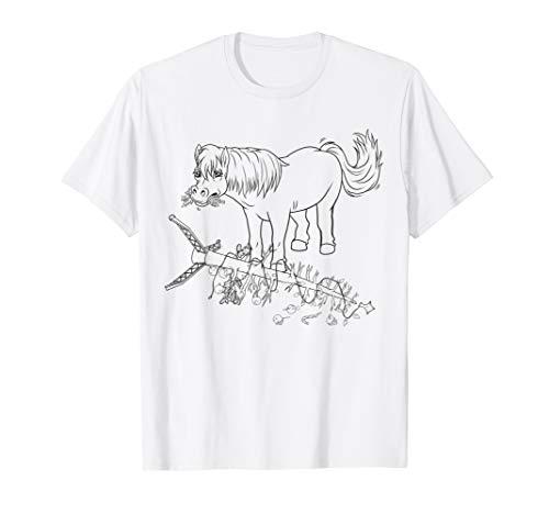 Kinder Geschenk Shetland Pony Ausmalen Pferde Malvorlage T-Shirt