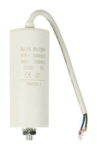 Kondensator 20 µF/450 V + Kabel