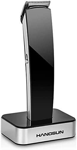 Hangsun Haarschneider und Barttrimmer für Herren Profit Haarschneidemaschine Bartschneider mit Selbstschärfende Klinge USB-Ladeständer 7-in-1 HC360 Black