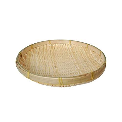LHjin-Contenedores de Pan, Bambú Bread Basket, Bandeja Redonda Armadura de la Rota, el Plato de Fruta, for Picnic diversa contenedor de Cocina (Color : C)