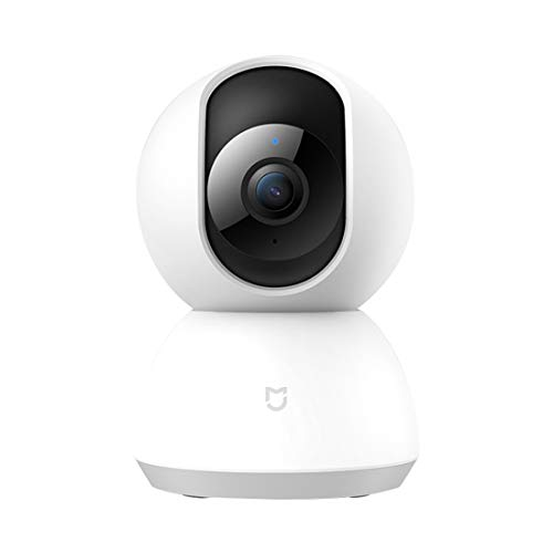 Xiaomi Original MIJIA Xiaobai Smart IP Camera Enhanced Edition 1080P HD 360 Degrees View Angle, Support AI Motion Detection & Infrared Vision & Micro SD Card(64GB MAX)(White)