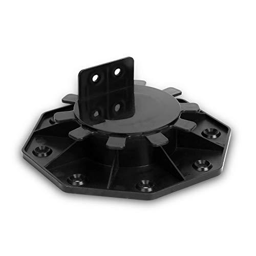 ZJLA Pedestal 18-30mm Soporte de losa 50 piezas Pie ajustable para losas de terraza Altura ajustable Pies de plástico para losas, azulejos, losas de piedra y terraza (S = 18-30mm)