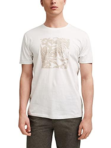 Esprit 041EE2K315 Camiseta, 110/OFF White, L para Hombre