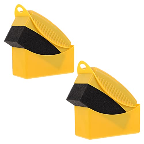 FAVOMOTO 2 Pzs Almohadillas Aplicadoras para Limpieza de Neumáticos Brillo Color Pulido Esponja Cera
