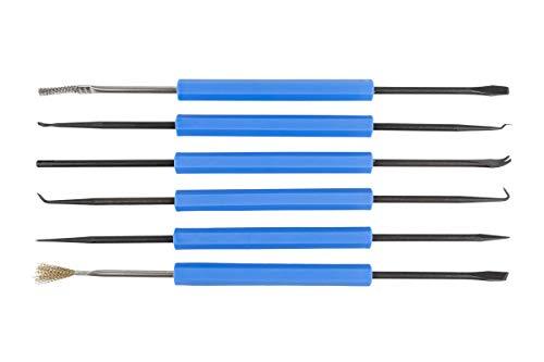 GALLUNoptimal Lötbesteck LB6 6-teiliges Lötwerkzeug mit 9 unterschiedlichen Werkzeugen (+ 3x Lotsauglitze)
