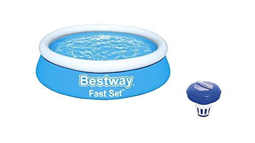 BESTWAY 57392 - Piscina Hinchable Infantil Fast Set Mi Primera Piscina 183x51cm