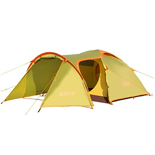 LEZDPP Zelt im Freien 3-4 Personen Anzug One Room One Halle Frei Haushalt Doppel-gedeckte Konto Regenschutz Campingausrüstung