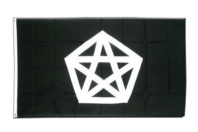 Pentagramm Flagge, Fahne 90 x 150 cm, MaxFlags®
