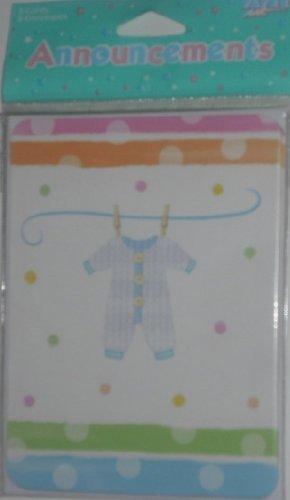 Vêtements pour bébé bébé naissance Cartes – Lot de 8