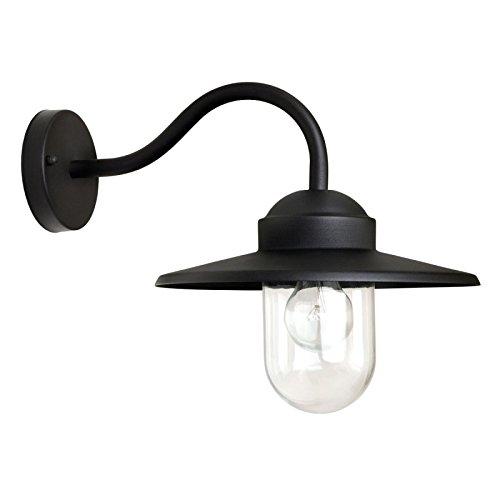 KS Verlichting Außenwandleuchte Hoflampe Dolce Schwarz