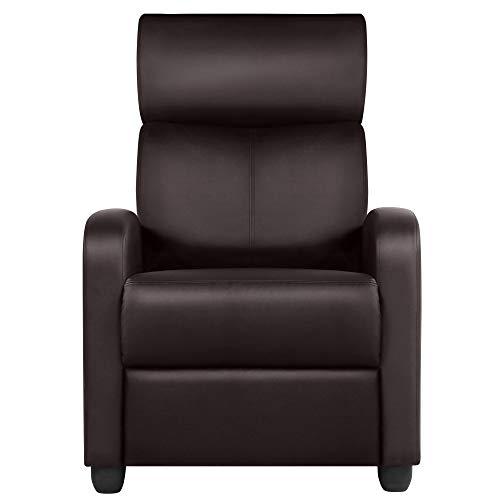 Yaheetech Mordern Recliner Chair Single Reclining Sofa...