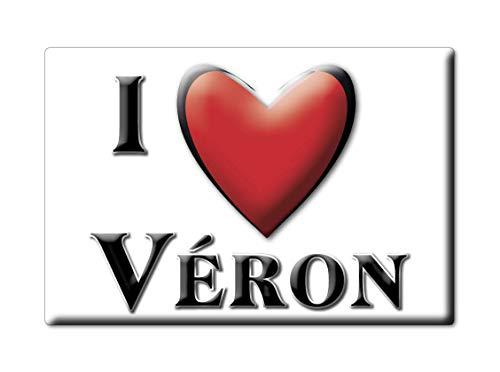 Enjoymagnets VÉRON (89) Souvenir IMANES DE Nevera Francia Lorraine IMAN Fridge Magnet Corazon I Love