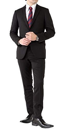(アウトレットファクトリー)OUTLET FACTORY スーツ メンズスーツ 春夏スーツ スリムスタイル ストレッチ素材 ご家庭で洗濯可能なスラックス 2ツボタ