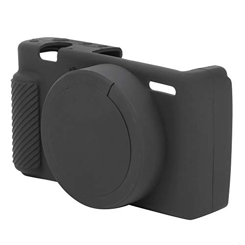 Funda Protectora para cámara Digital, Funda Protectora de Silicona para cámara Digital Accesorio para cámara Sony ZV1 Negro