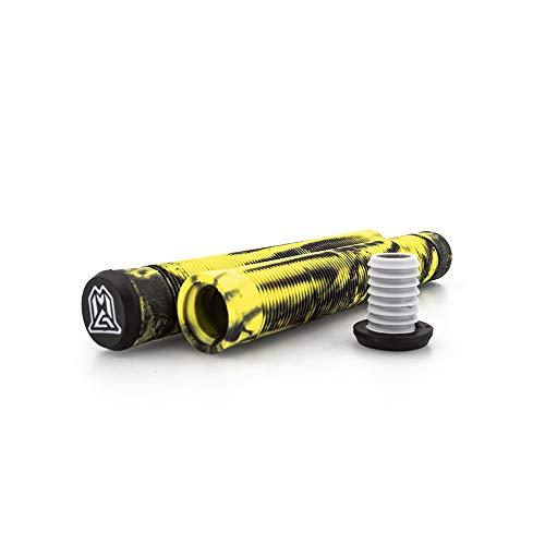 MADD MGP Gear Stunt-Scooter Griffe Grips TPR inkl Barends 150 mm 180 mm (schwarz/gelb/grau, 180 mm)