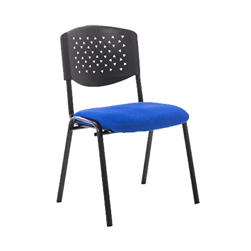 CHANG-Stühle Multiplayer Meeting Chair, Stapelbarer Bequemer Bürostuhl Lounge Casual Reception Chairs School Classroom Student Chair Gaming Stuhl(Color:Blau)