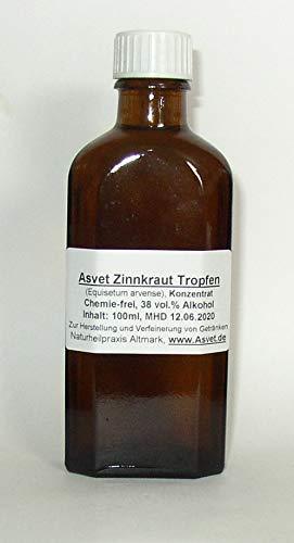 Asvet 50ml Zinnkraut Extrakt, Schachtelhalm Tropfen, Konzentrat (GP = EUR 35,80/100ml)