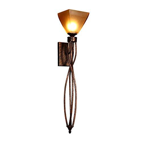 Meetyou Vintage glazen wandlamp, rustieke industriële multi-arm wandlamp met retro-wand voor gang, restaurant, eetkamer, koffie, winkel, keuken gemonteerd