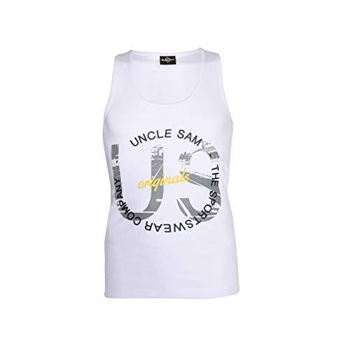 Uncle Sam Herren Muskel Shirt, Verschiedene Styles, Größe:XL, Sam Farben:White