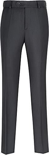 STENSER B84A Jungen Anzughose Schuluniform Elastische Taille, Dunkelgrau, 140 S (Label 32/140)
