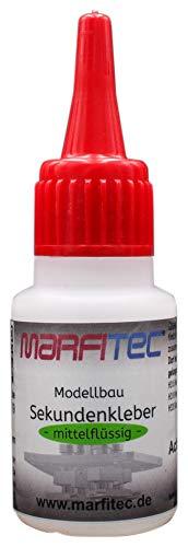 marfitec © Modellbau Sekundenkleber 20g mittelflüssig - Standard Verschluss