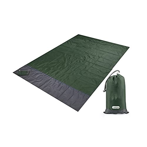 GUHUIHE 2x2.1m Pocket Impermeable Blanda Manta Plegable Camping Colchón Colchón Portátil Matero Ligero Al Aire Libre Picnic Mat Arena Playa Mat (Color : Green, Size : 200 x 140cm)