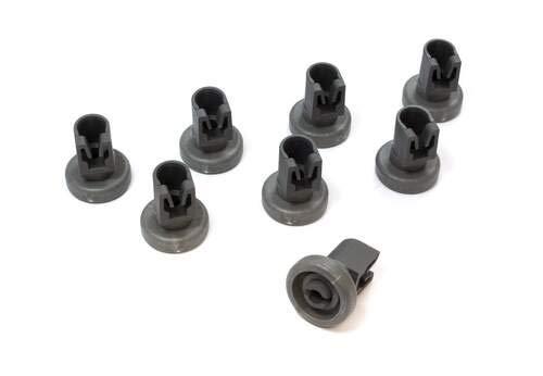 Zanussi 50286967000 - Kit de ruedas para cesta superior del lavavajillas (8 unidades)
