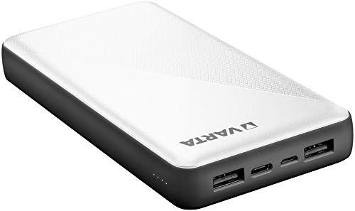 VARTA Power bank Energy 20000mmAh, include cavo di ricarica (1x ingresso micro USB, 2x uscita USB A, 1x attacco bidirezionale USB tipo C, ricarica veloce)